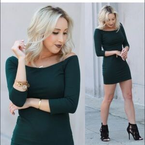 Forever 21 hunter green boxycon dress